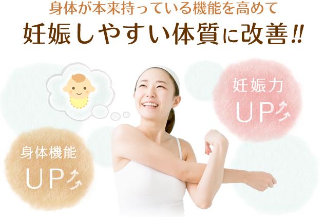 妊娠しやすい体質に改善!