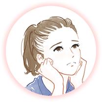 生え際の脱毛に悩む女性のイメージ